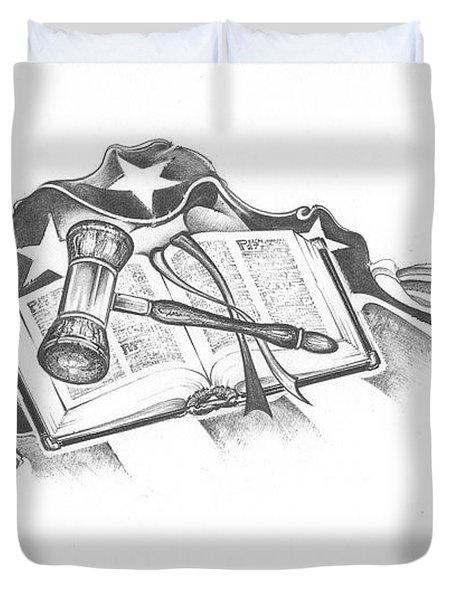 The Trials Of Life Duvet Cover by Scott and Dixie Wiley