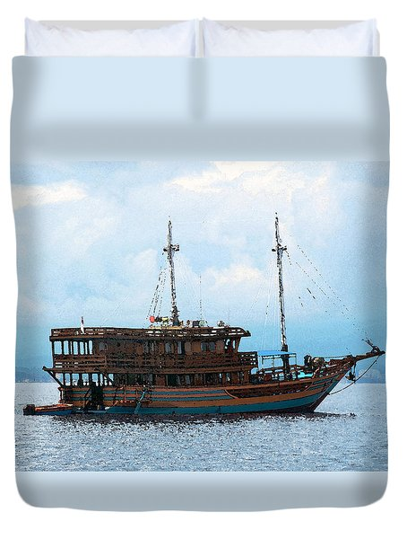 The Trip To Bunaken Duvet Cover by Sergey Lukashin