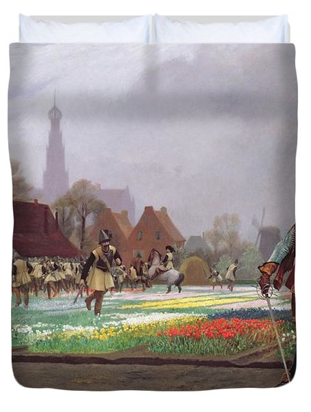 The Tulip Folly Duvet Cover by Jean Leon Gerome