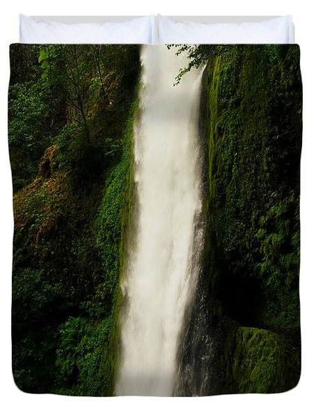 The Tunnel Behind Tunnels Falls Duvet Cover by Jeff Swan