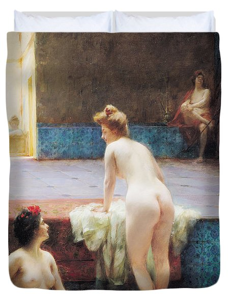 The Turkish Bath, 1896 Oil On Canvas Duvet Cover