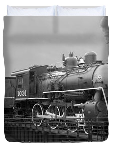 The Turntable And Roundhouse Duvet Cover by Mike McGlothlen
