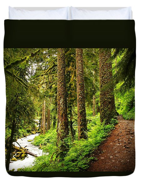 The Twisting Path Winding Through Paradise  Duvet Cover by Jeff Swan
