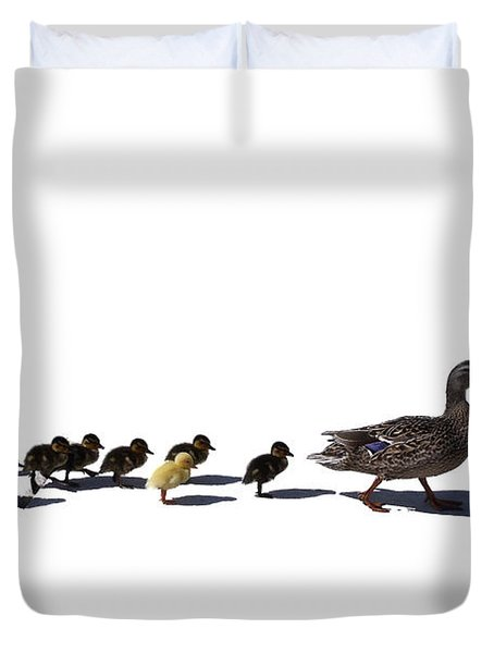 Duvet Cover featuring the photograph The Ugly Duckling  by Lars Lentz