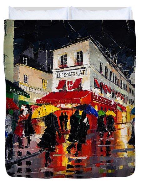 The Umbrellas Of Montmartre Duvet Cover
