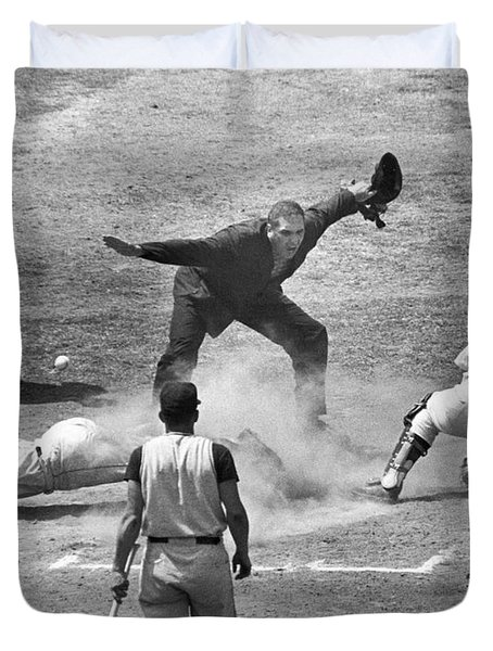 The Umpire Calls It Safe Duvet Cover