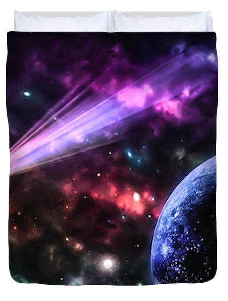 The Undiscovered Planet  Duvet Cover by Naomi Burgess