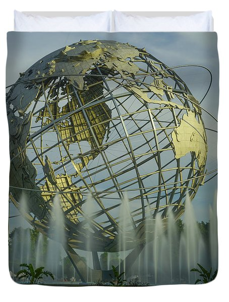 The Unisphere Duvet Cover by Theodore Jones