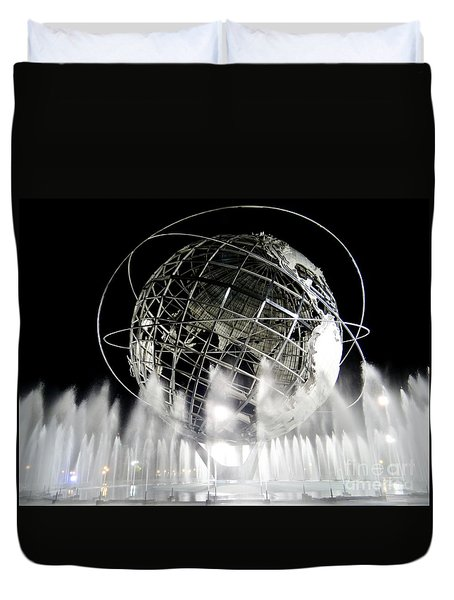 The Unisphere's 50th Anniversary Duvet Cover
