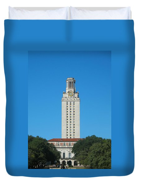 The University Of Texas Tower Duvet Cover