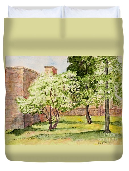 The University Of The South Campus Duvet Cover by Janet Felts