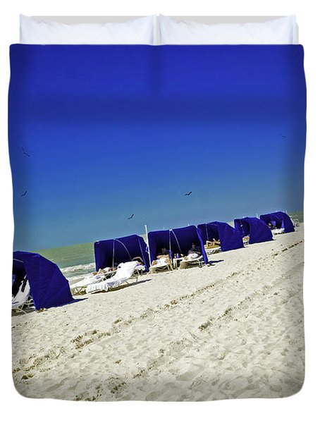 The Vacationers 2 Duvet Cover by Madeline Ellis