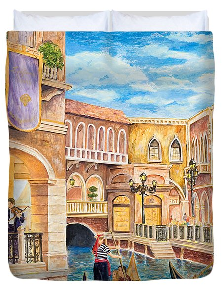 The Venetian Canal  Duvet Cover by Vicki  Housel