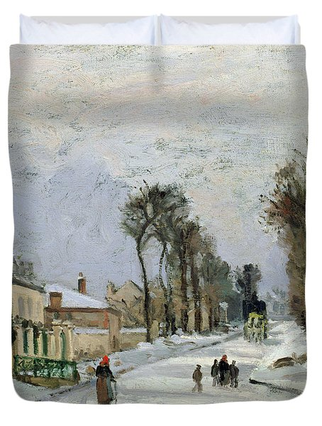 The Versailles Road At Louveciennes Duvet Cover