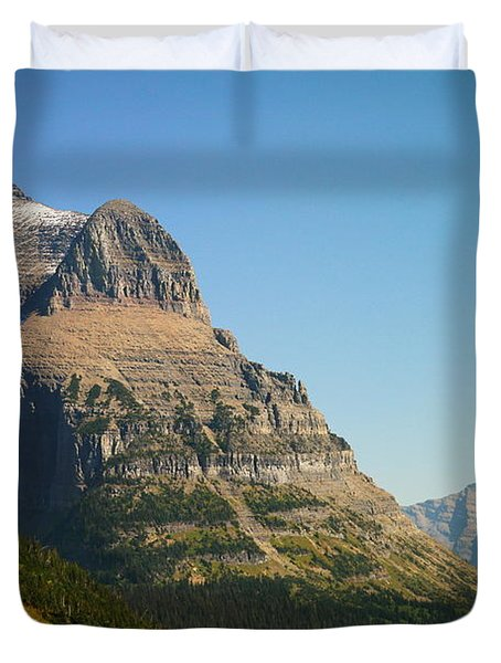 The Very First Snow In Montana In September Duvet Cover by Jeff Swan