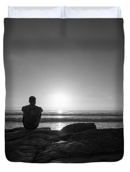The View Bw Duvet Cover