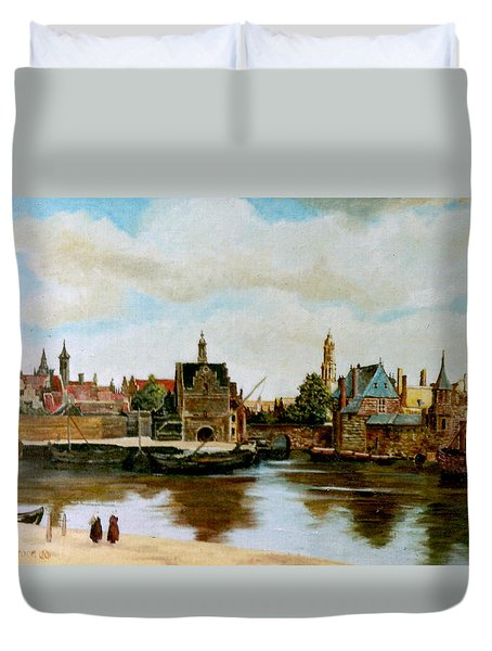 The View Of Delft Duvet Cover