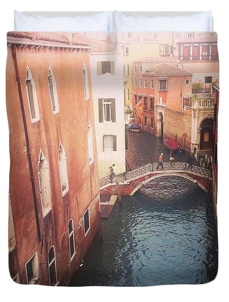 Venice Mornings  Duvet Cover
