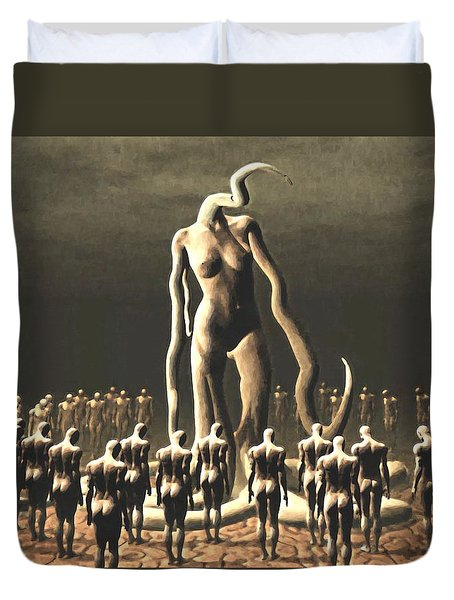 The Vile Goddess Duvet Cover