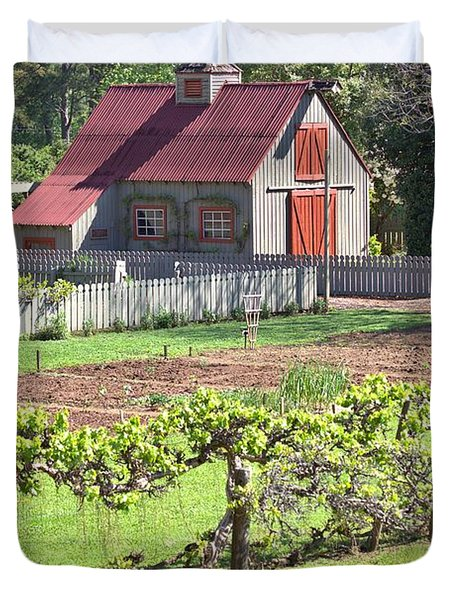 The Vineyard Barn Duvet Cover
