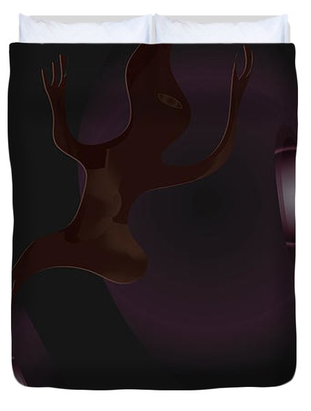 The Violet Void Duvet Cover