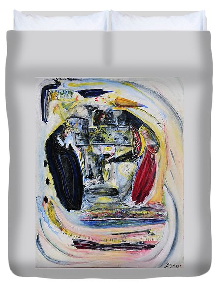 The Vision Of Ironstar Duvet Cover by Kicking Bear  Productions