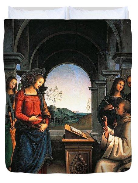 The Vision Of St Bernard Duvet Cover