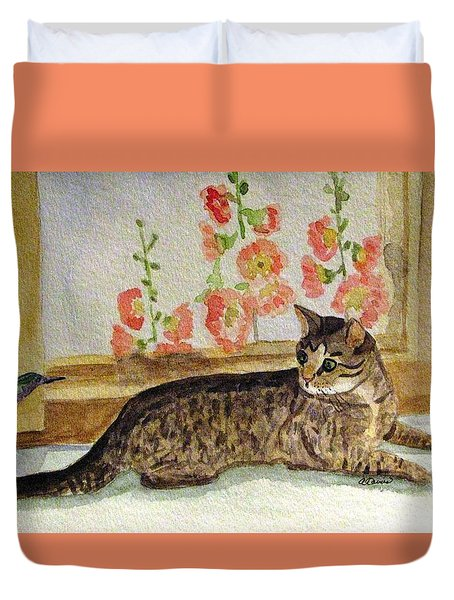 The Visitor Duvet Cover by Angela Davies