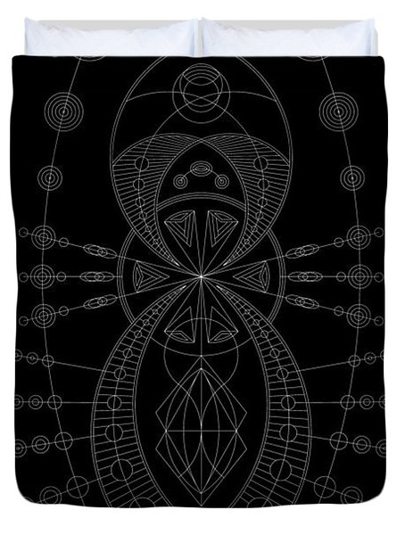The Visitor Inverse Duvet Cover by DB Artist