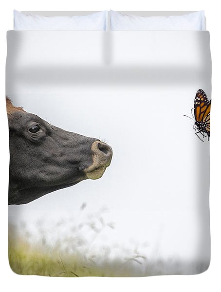 The Visitor  Duvet Cover by Sheila Smart Fine Art Photography