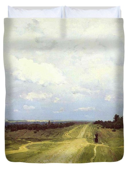 The Vladimirka Road Duvet Cover by Isaak Ilyich Levitan
