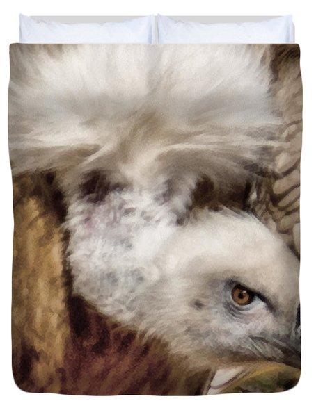 The Vulture Duvet Cover by Ernie Echols