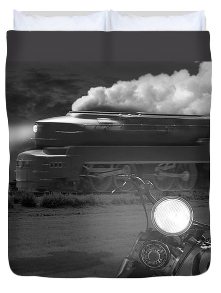 The Wait - Panoramic Duvet Cover