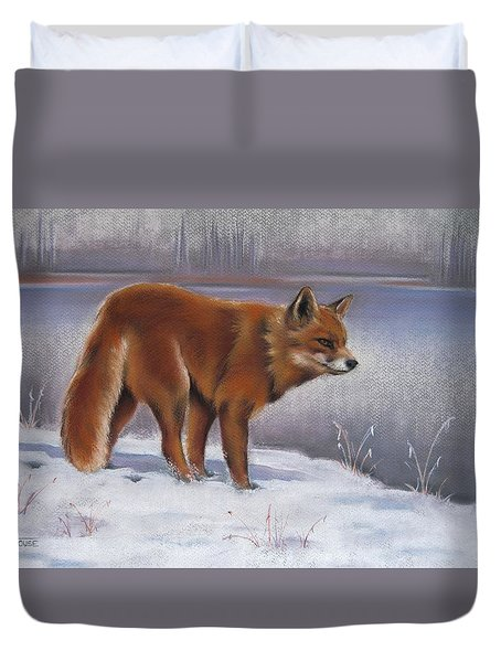 The Waiting Game Duvet Cover by Cynthia House