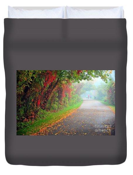 The Walk Duvet Cover by Terri Gostola