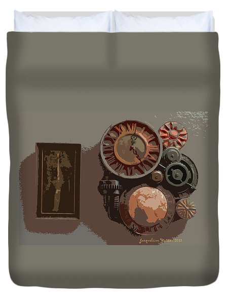 The Wall Clock Duvet Cover