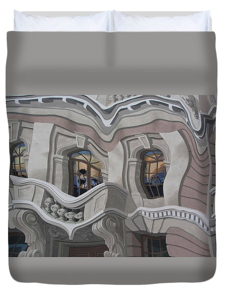 Duvet Cover featuring the photograph The Walls Are Coming Down by Natalie Ortiz