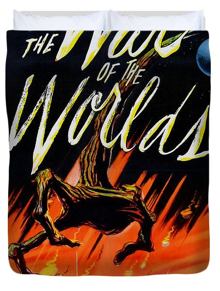 The War Of The Worlds Duvet Cover by Georgia Fowler
