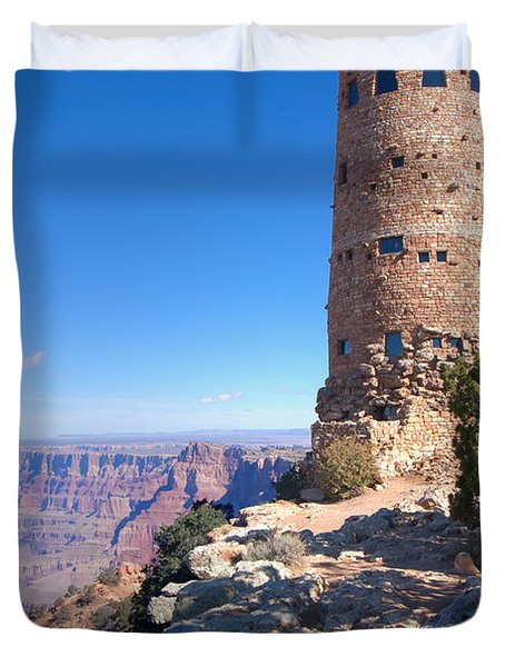 Duvet Cover featuring the photograph The Watchtower by John M Bailey