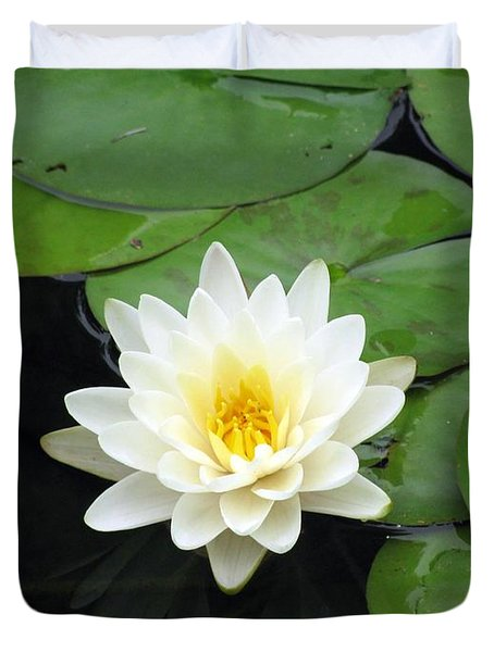 Duvet Cover featuring the photograph The Water Lilies Collection - 01 by Pamela Critchlow