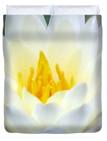 Duvet Cover featuring the photograph The Water Lilies Collection - 05 by Pamela Critchlow