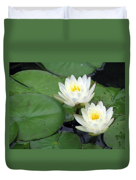 Duvet Cover featuring the photograph The Water Lilies Collection - 06 by Pamela Critchlow