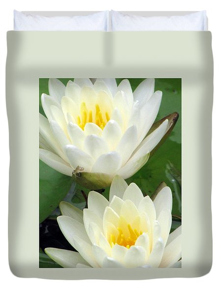 Duvet Cover featuring the photograph The Water Lilies Collection - 09 by Pamela Critchlow