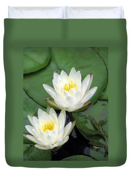Duvet Cover featuring the photograph The Water Lilies Collection - 12 by Pamela Critchlow