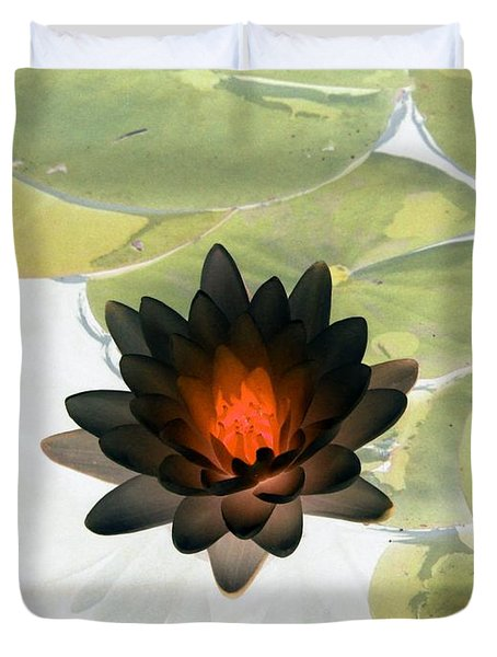 Duvet Cover featuring the photograph The Water Lilies Collection - Photopower 1034 by Pamela Critchlow