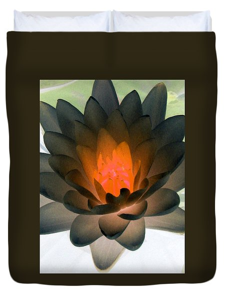 Duvet Cover featuring the photograph The Water Lilies Collection - Photopower 1036 by Pamela Critchlow
