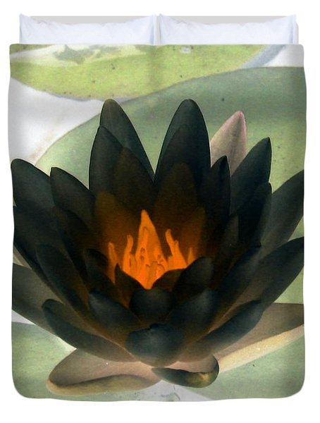 Duvet Cover featuring the photograph The Water Lilies Collection - Photopower 1037 by Pamela Critchlow