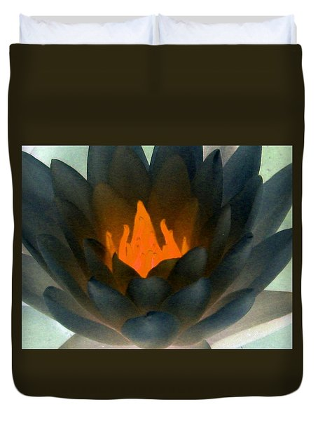 Duvet Cover featuring the photograph The Water Lilies Collection - Photopower 1038 by Pamela Critchlow