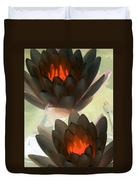 Duvet Cover featuring the photograph The Water Lilies Collection - Photopower 1042 by Pamela Critchlow