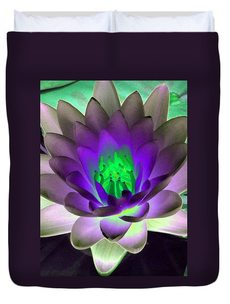 Duvet Cover featuring the photograph The Water Lilies Collection - Photopower 1115 by Pamela Critchlow